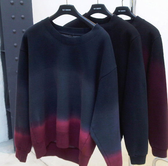 dye sweater red black awesome