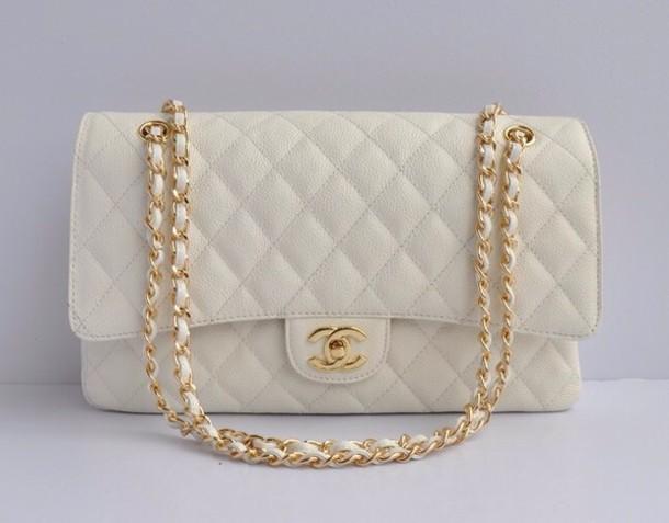 bag white channel bag