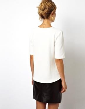 ASOS | ASOS Top in Textured Fabric at ASOS