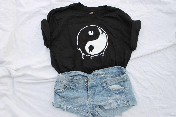 Dripping ying and yang shirt