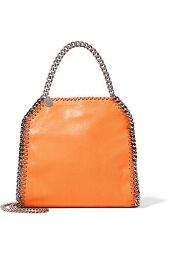 mini leather orange bag