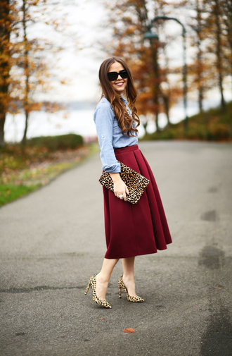 dress corilynn blogger midi skirt animal print bag leopard print high heels
