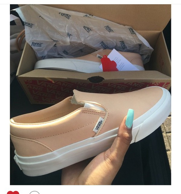 0df4030559 pink leather slip on vans Sale