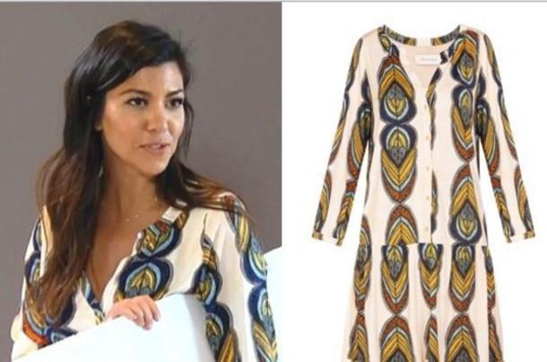 kourtney kardashian patterned dress