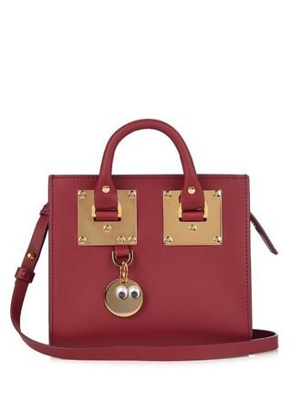 cross mini bag leather burgundy