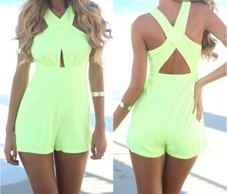 jumpsuit neon yellow