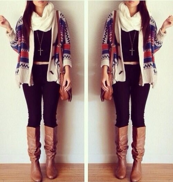 Sweater: fashion, fall outfits, cute, cardigan, oversized cardigan ...