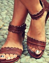 shoes,leather midsummer sandals,leather,leather sandals,strappy sandals,hipster,summer shoes,sandals,summer,brown,brown shoes,brown sandals,cute sandals,flat sandals,nude sandals,sandals brown,brown leather sandals,boho,pinterest,scalloped