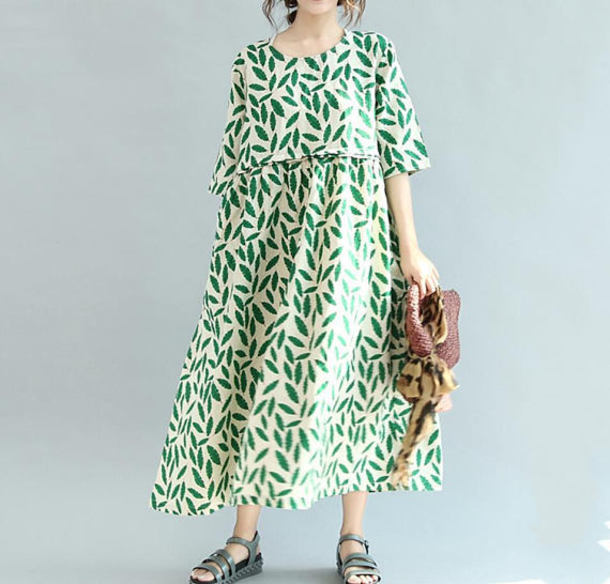dress loose doll dress maxi dress