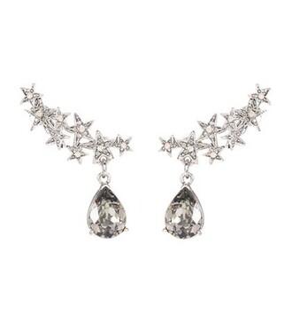 embellished earrings silver jewels