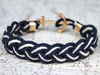 jewels blue anchor bracelets
