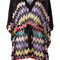 Missoni - drawstring zigzag blouse - women - rayon - 38, black, rayon