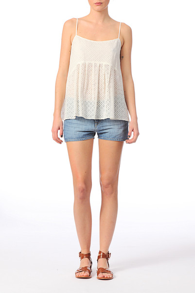 Top Shefild Blanc / Ecru Ba&sh sur MonShowroom.com