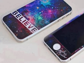 dress justin bieber kidrauhl cover phone cover justin bieber belieber galaxy print iphone cover iphone case iphone iphone4 iphone 4 case believe space home accessory bag