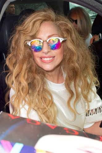 sunglasses lady gaga rainbow colorful holographic