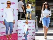 top,amber rose,kim kardashian,backless,long sleeves,shorts,jeans