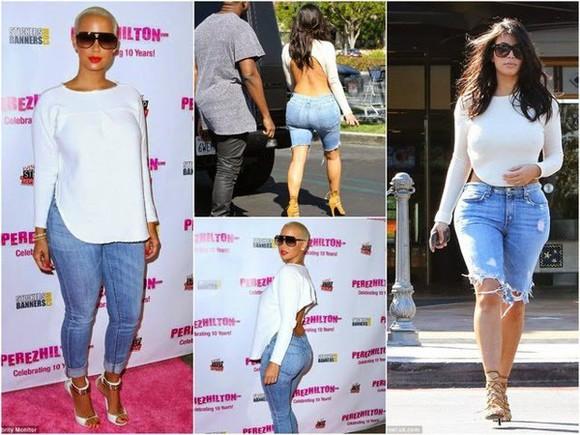 backless top amber rose kim kardashian long sleeves