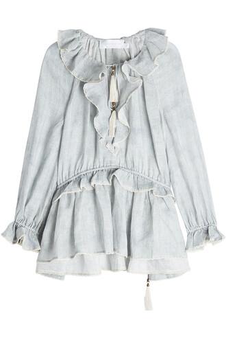 blouse tunic stripes top