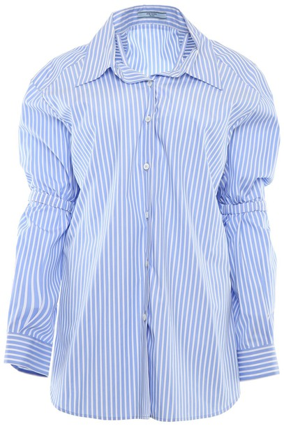 Prada shirt striped shirt top