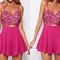 Magenta cut-out romper – dream closet couture
