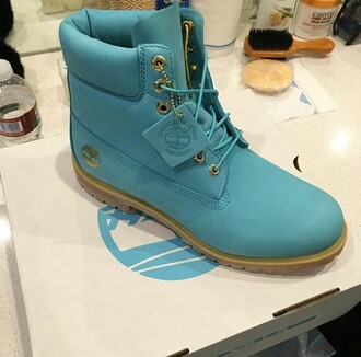 shoes blue timberlands baby blue
