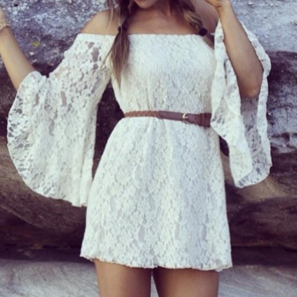 dress lace dress white dress long sleeve dress long sleeve lace dress