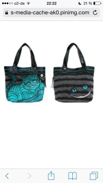 bag chesirecat turquoise alice in wonderland alice