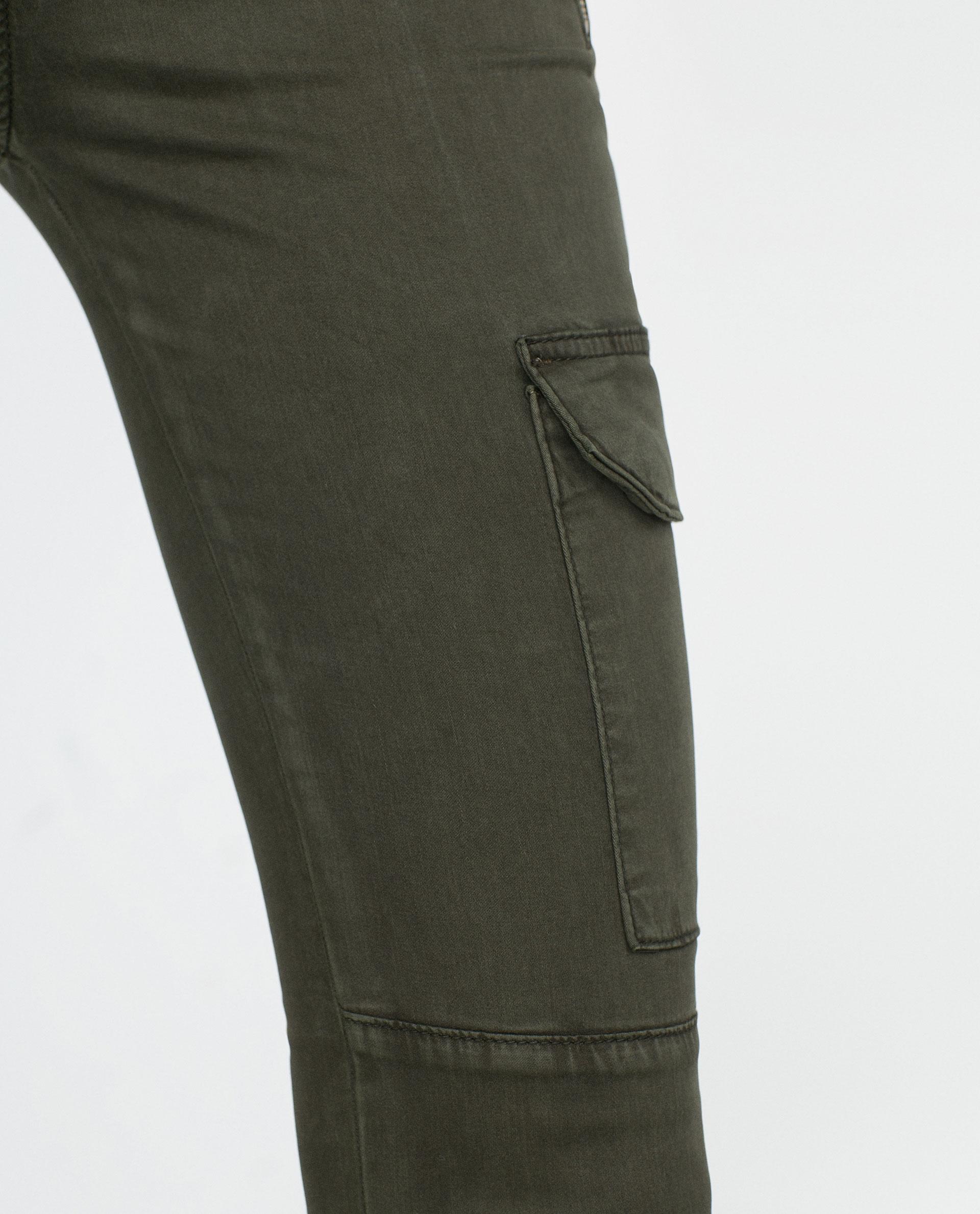pantalones zara militar