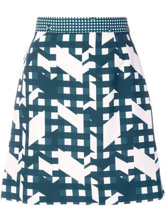 skirt mini skirt mini women print green
