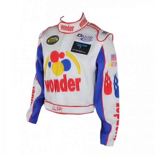 Ricky Bobby Wonder Bread Biker Leather Jacket
