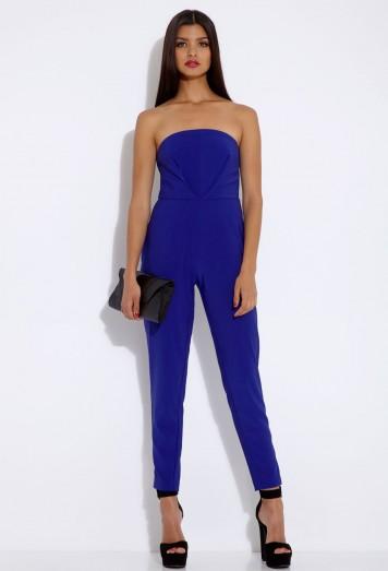Vanity Blue Strapless Jumpsuit AQ/AQ