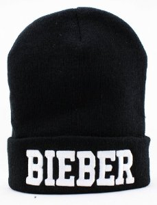 Amazon.com: Justin Bieber Beanie (Black with White Logo): Sports & Outdoors