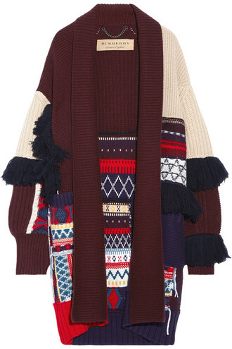 cardigan patchwork wool sweater