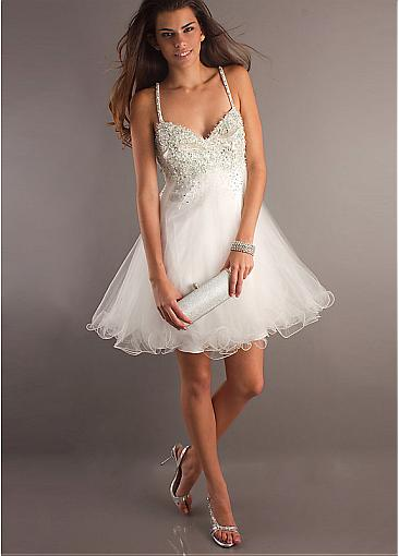 Buy Discount white circle spaghetti straps Occasion Dresses from  Edreambridal