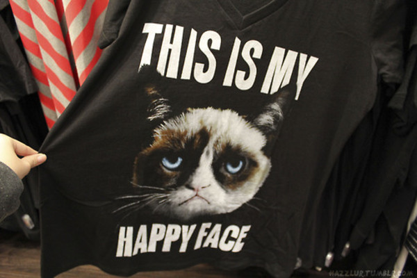 t-shirt cats grumpy cat