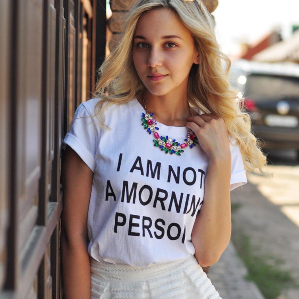 Aliexpress.com : Buy East Knitting New Women Fashion Letter Print T shirts