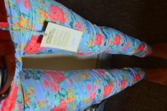 clothes floral jeans pants low