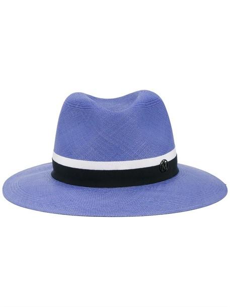 hat straw hat blue
