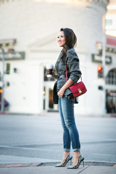 blogger top bag jewels wendy's lookbook jacket Belt