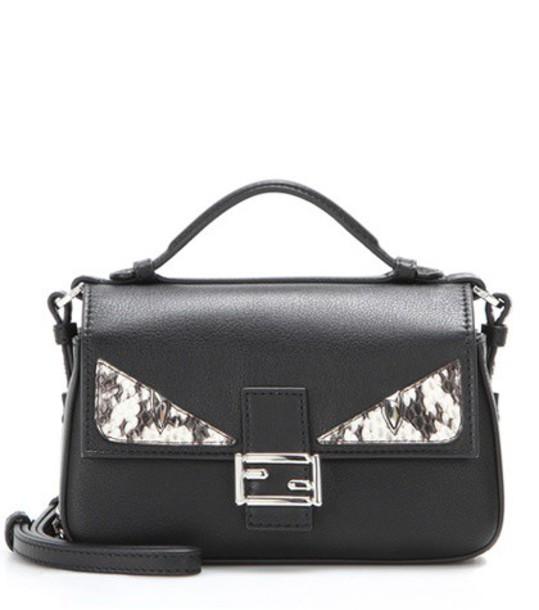 Fendi embellished bag shoulder bag leather black