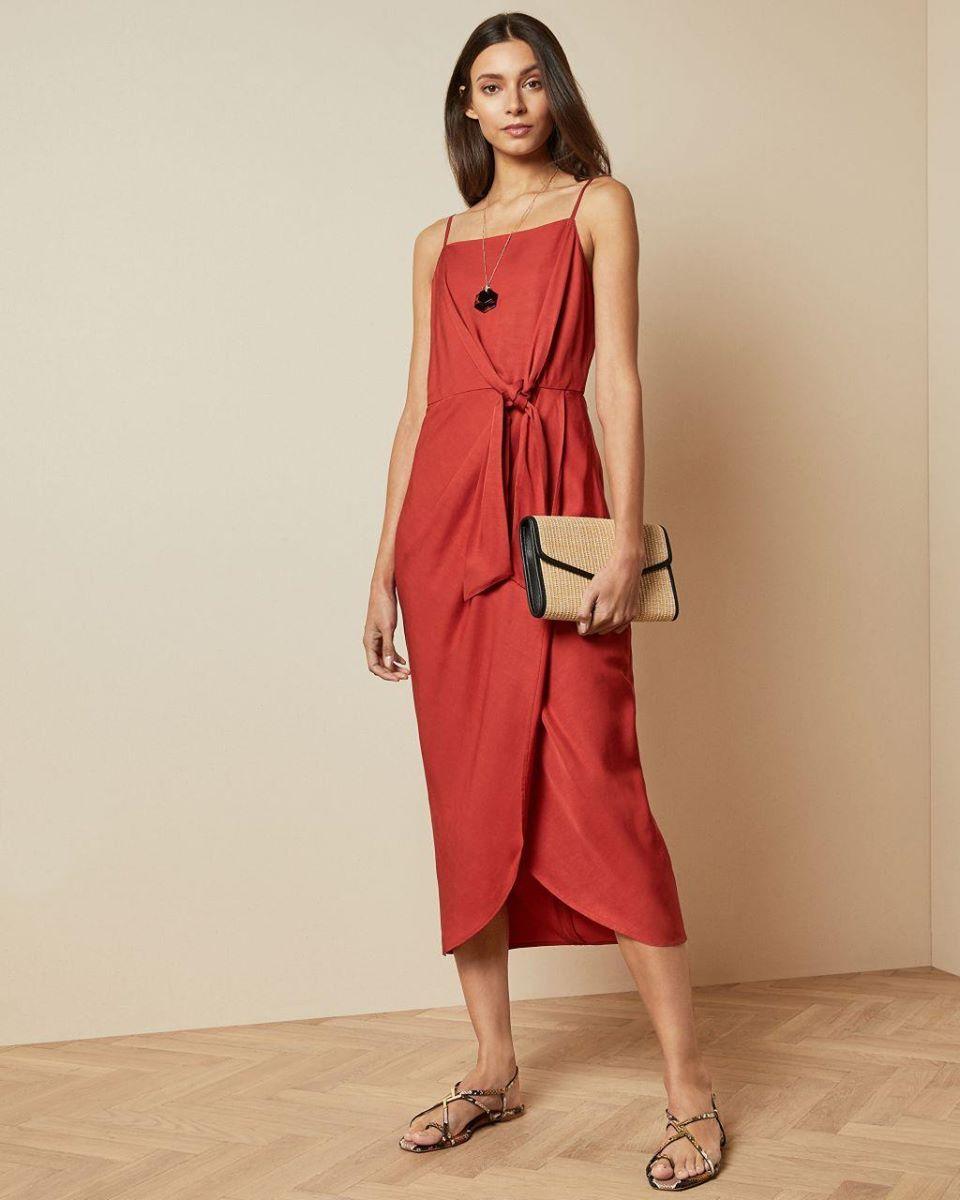 Knot Detail Drape Dress