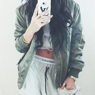 jacket calvin klein calvin klein underwear my calvins mycalvins kylie jenner kylie jenner jacket leather jacket green jacket camouflage army green jacket phone cover lv louis vuitton