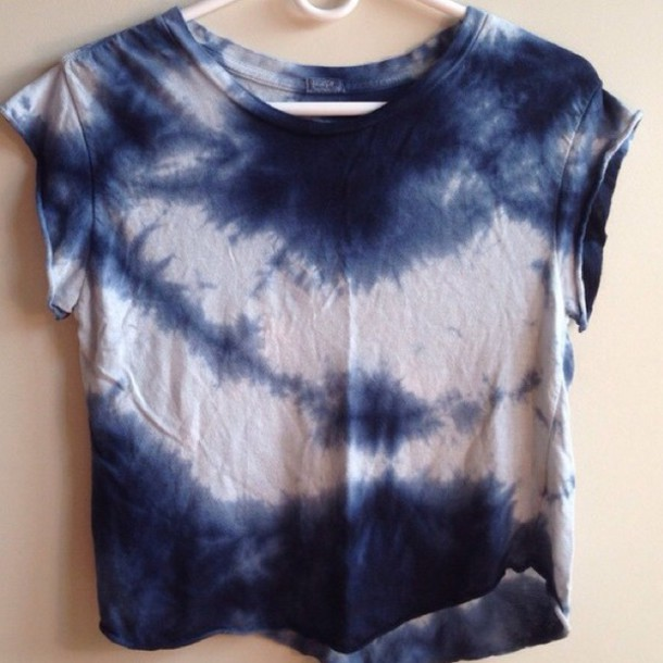 shirt tie dye shirt blue shirt white t-shirt crop tops brandy melville