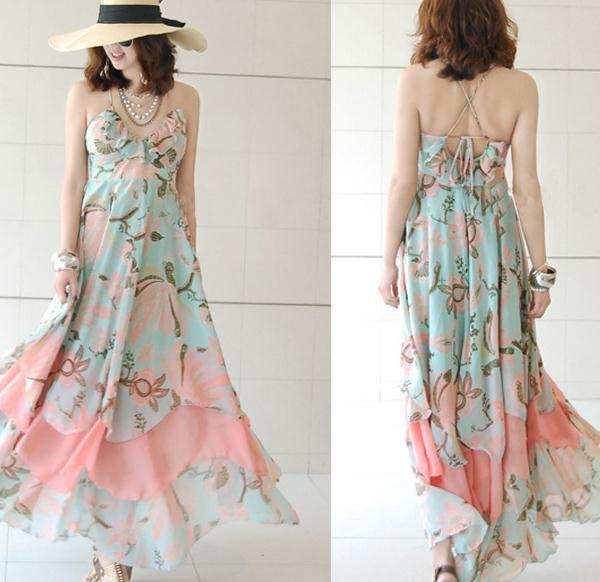 Irregular cute chiffon dress / fanewant