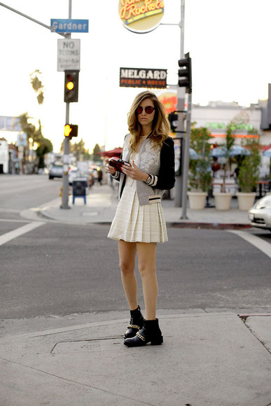 blonde salad dress bag sunglasses jacket