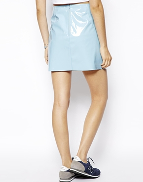 ASOS   ASOS Ultra Mini Skirt in Patent PU at ASOS