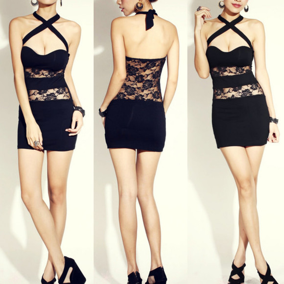 dress lace dress clothes clothing fashion i4out look lookbook black lace dress