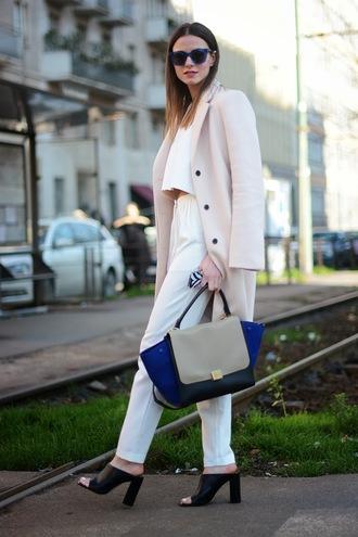 fashion vibe sunglasses shoes pants t-shirt bag coat