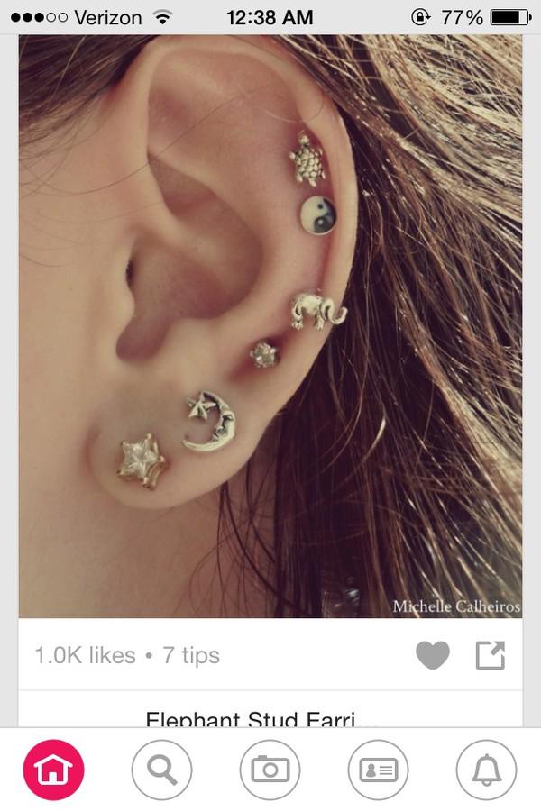 jewels yin yang stud turtle studs