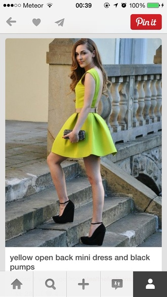 dress neon yellow